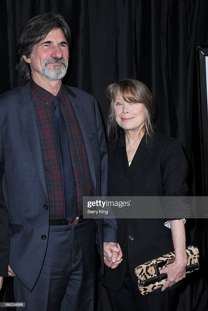 Actress Sissy Spacek (R) and husband Jack Fisk attend the 38th annual Los Angeles Film Critics Association Awards at InterContinental Hotel on January 12, 2013 in Century City, California.