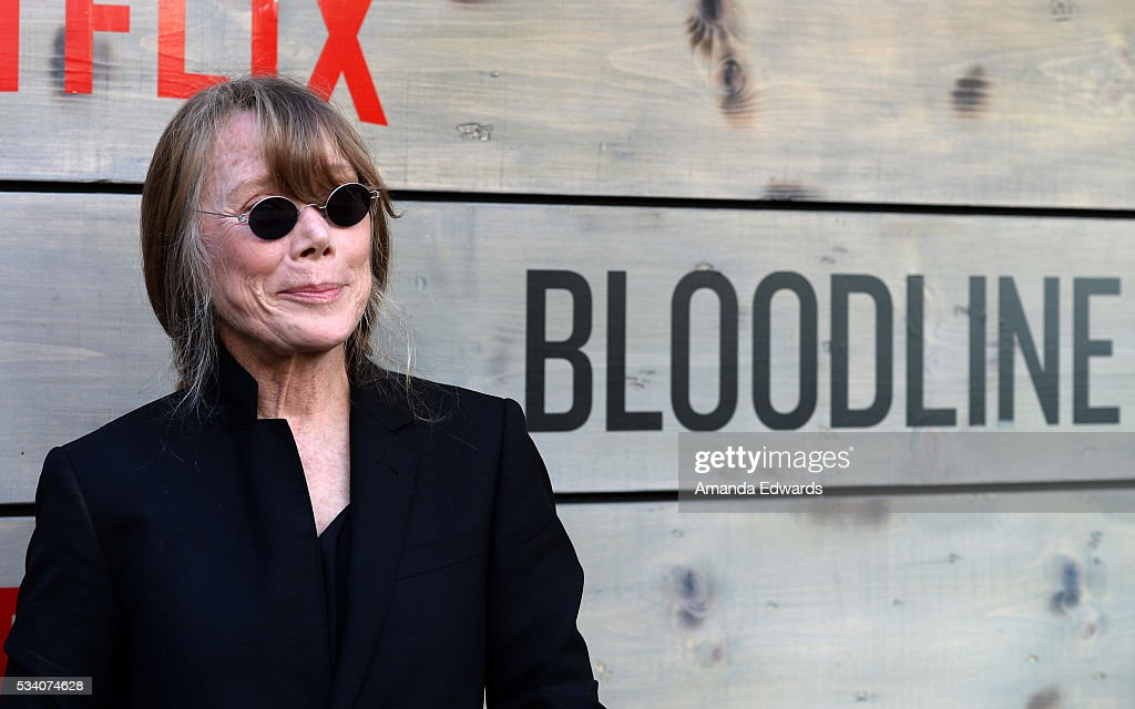 Actress <a gi-track='captionPersonalityLinkClicked' href=/galleries/search?phrase=Sissy+Spacek&family=editorial&specificpeople=212977 ng-click='$event.stopPropagation()'>Sissy Spacek</a> arrives at the premiere of Netflix's 'Bloodline' at The Landmark Regent Theater on May 24, 2016 in Westwood, California.