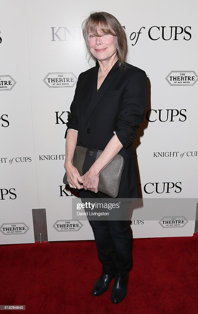 Actress Sissy Spacek attends the premiere of Broad Green Pictures' 'Knight of Cups' at The Theatre at Ace Hotel on March 1, 2016 in Los Angeles, California.