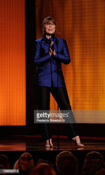 Actress Sissy Spacek speaks onstage at the 44th Annual CMA Awards at the Bridgestone Arena on November 10 2010 in Nashville Tennessee