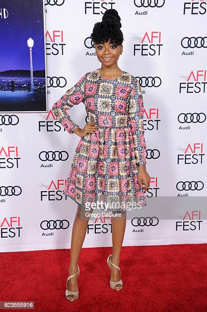Actress Skai Jackson arrives at the AFI FEST 2016 Presented By Audi Screening Of Lionsgate's 'La La Land' at TCL Chinese Theatre on November 15 2016...