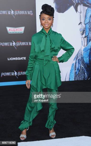 Actress Skai Jackson arrives at the Los Angeles Premiere 'Power Rangers' at the Westwood Village Theater on March 22 2017 in Westwood California