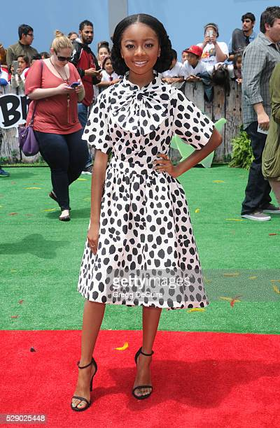 Actress Skai Jackson arrives at the premiere of Sony Pictures' 'The Angry Birds Movie' at Regency Village Theatre on May 7 2016 in Westwood California