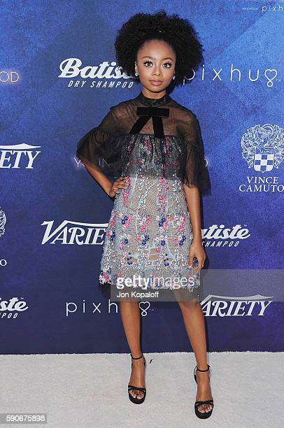 Actress Skai Jackson arrives at Variety's Power Of Young Hollywood at NeueHouse Hollywood on August 16 2016 in Los Angeles California
