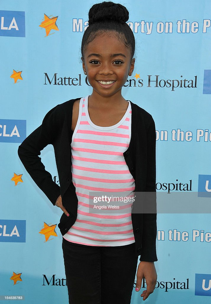 Actress Skai Jackson arrives to the 'Mattel Party on the Pier' benefiting Mattel Children's Hospital UCLA at Pacific Park on the Santa Monica Pier on October 21, 2012 in Santa Monica, California.
