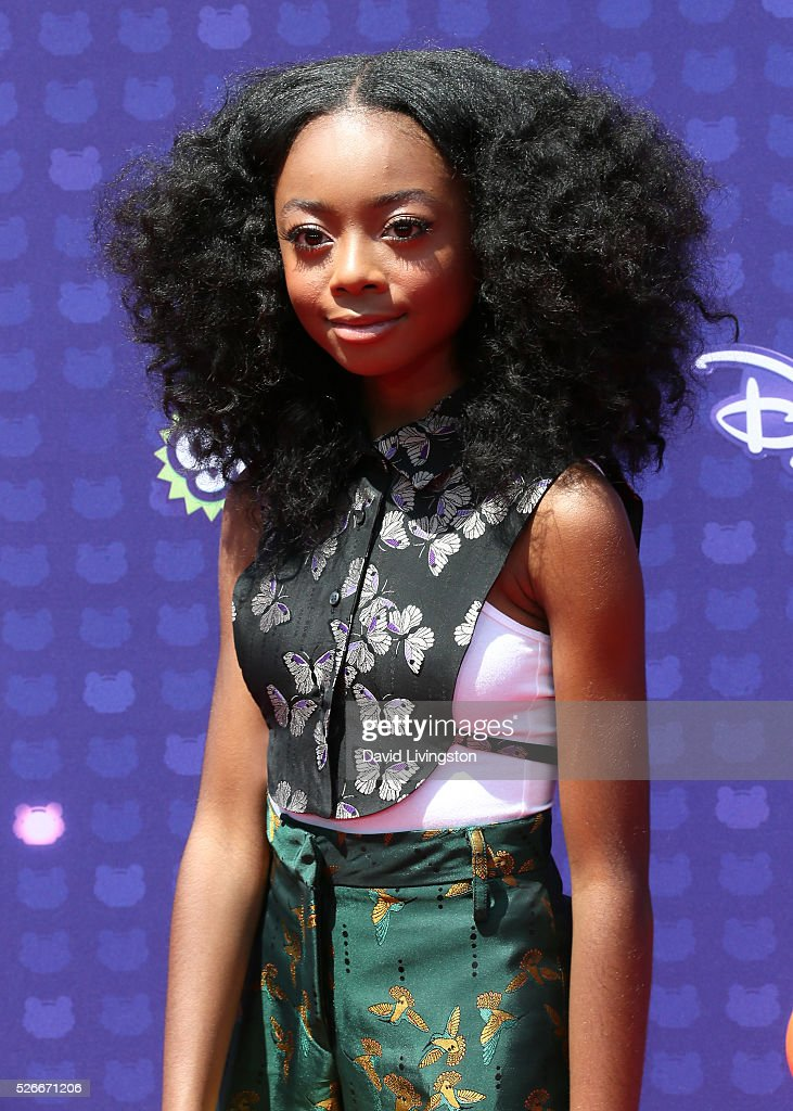 Actress Skai Jackson attends the 2016 Radio Disney Music Awards at Microsoft Theater on April 30, 2016 in Los Angeles, California.