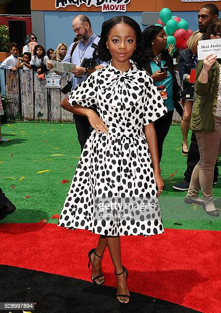 Actress Skai Jackson attends the premiere of 'Angry Birds' at Regency Village Theatre on May 7 2016 in Westwood California