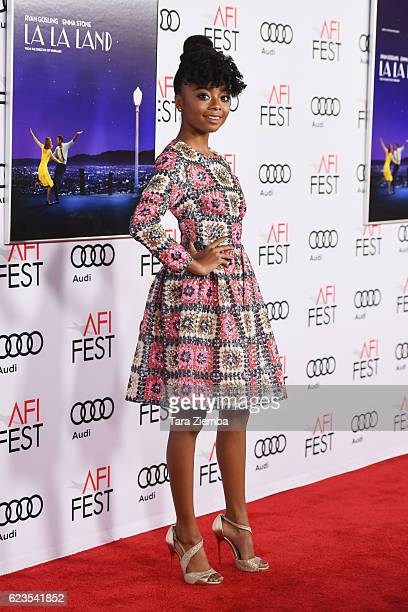 Actress Skai Jackson attends the premiere of 'LA LA LAND' at AFI Fest 2016 presented by Audi at The Chinese Theatre on November 15 2016 in Hollywood...