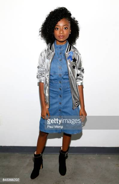 Actress Skai Jackson attends the Tracy Reese presentation during New York Fashion Week at Pier 59 on September 10 2017 in New York City