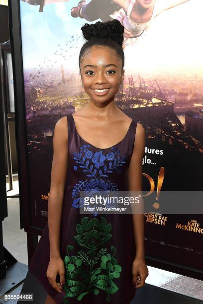 Actress Skai Jackson attends the Weinstein Company's 'LEAP' at The Grove on August 19 2017 in Los Angeles California
