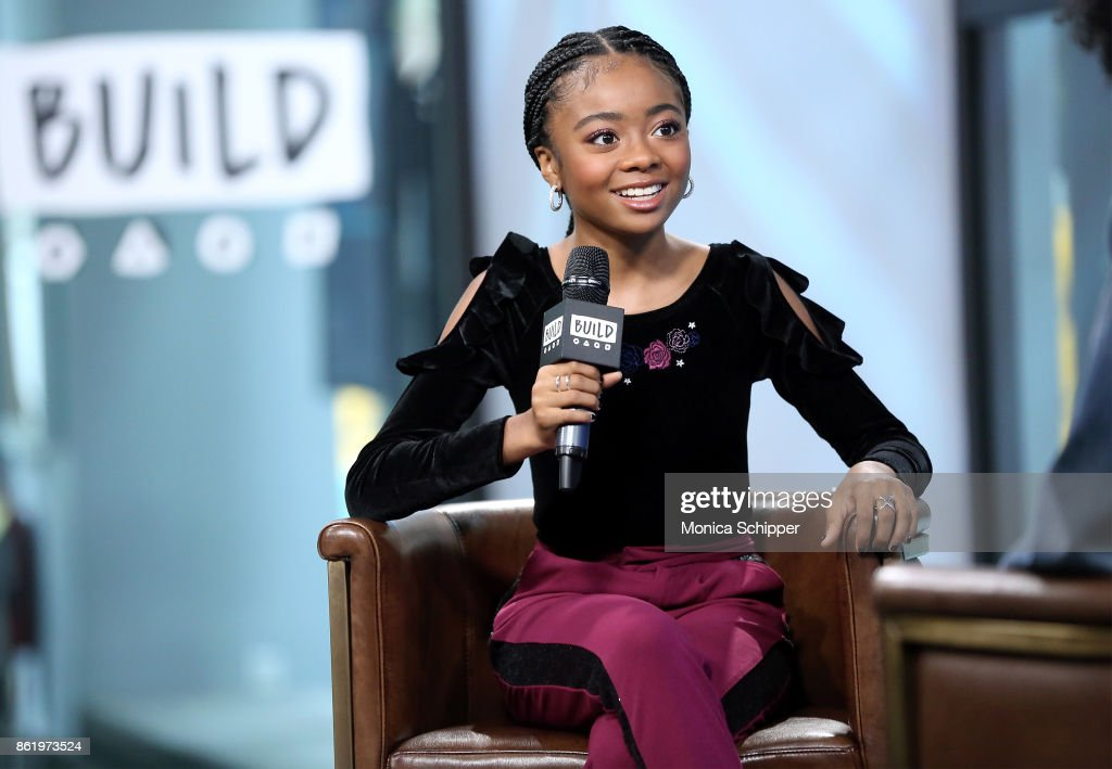 Actress Skai Jackson discusses 'Nowadays Collection' at Build Studio on October 16, 2017 in New York City.