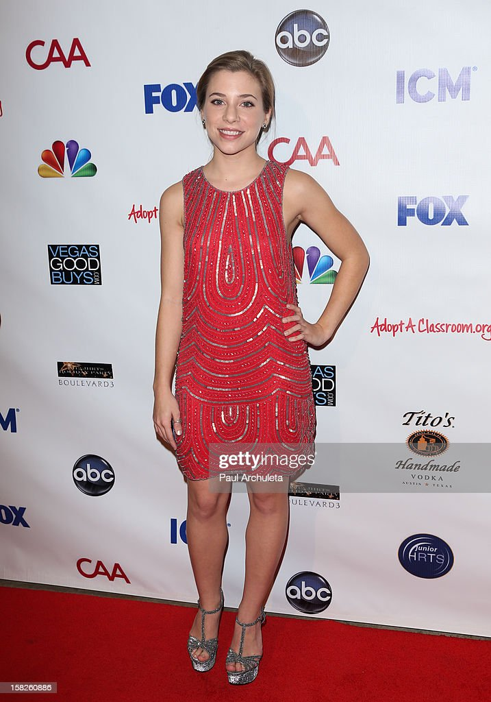 Actress Skyler Day attends the Junior Hollywood Radio & Television Society's 10th annual holiday party at Boulevard3 on December 11, 2012 in Hollywood, California.