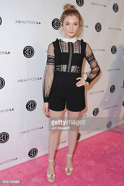 Actress Skyler Samuels arrives at the 4th Annual Beautycon Festival Los Angeles at Los Angeles Convention Center on July 9 2016 in Los Angeles...
