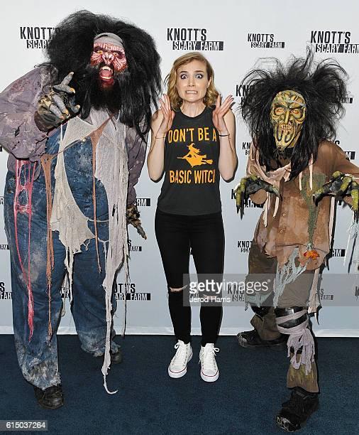 Actress Skyler Samuels attends Knott's Scary Farm at Knott's Berry Farm on October 15 2016 in Buena Park California