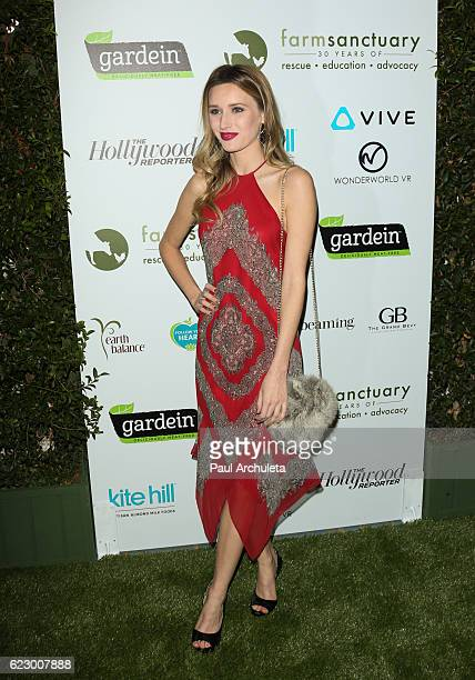 Actress Sloane Avery attends Farm Sanctuary's 30th Anniversary Gala at the Beverly Wilshire Four Seasons Hotel on November 12 2016 in Beverly Hills...