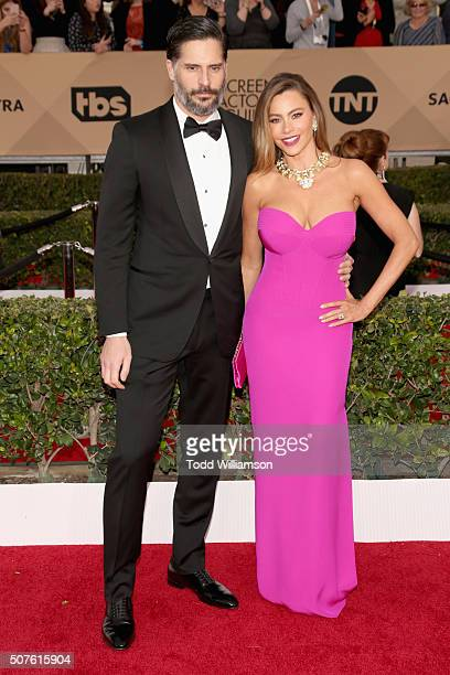Actress Sofía Vergara and Actor Joe Manganiello attend the 22nd Annual Screen Actors Guild Awards at The Shrine Auditorium on January 30 2016 in Los...