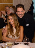 Actress Sofía Vergara and director Brett Ratner attend the 2014 Vanity Fair Oscar Party Viewing Dinner Hosted By Graydon Carter on March 2 2014 in...