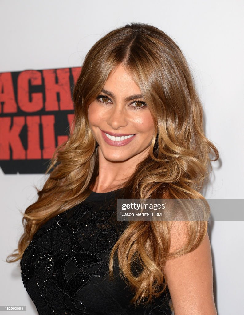 Actress Sofía Vergara arrives at the premiere of Open Road Films' 'Machete Kills' at Regal Cinemas L.A. Live on October 2, 2013 in Los Angeles, California.