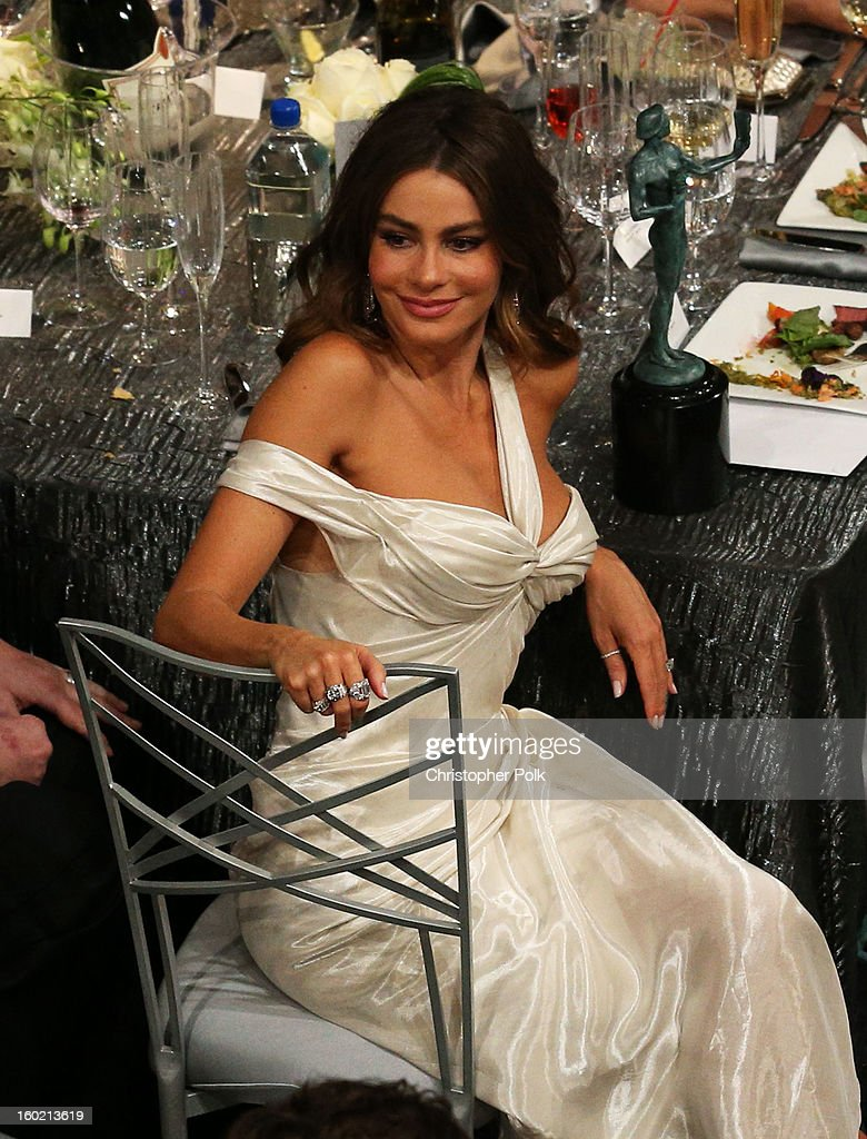 Actress Sofía Vergara attends the 19th Annual Screen Actors Guild Awards at The Shrine Auditorium on January 27, 2013 in Los Angeles, California. (Photo by Christopher Polk/WireImage) 23116_012_1319.jpg