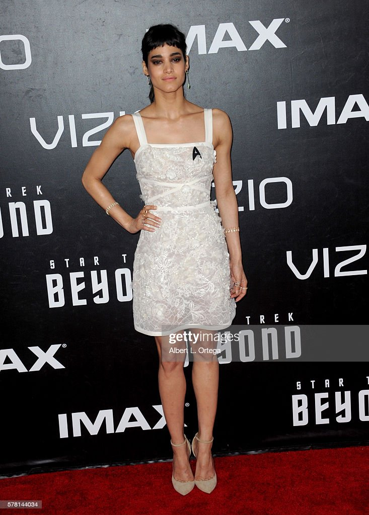 Actress Sofia Boutella arrives for the Premiere Of Paramount Pictures' 'Star Trek Beyond' held at Embarcadero Marina Park South on July 20, 2016 in San Diego, California.