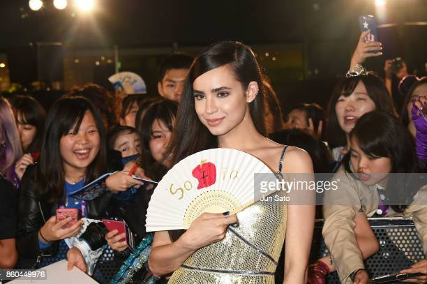 Actress Sofia Carson attends the Disney Channel's 'Descendants 2' Premiere at Toranomon Hills on October 12 2017 in Tokyo Japan