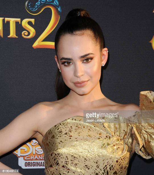 Actress Sofia Carson attends the premiere of 'Descendants 2' at The Cinerama Dome on July 11 2017 in Los Angeles California