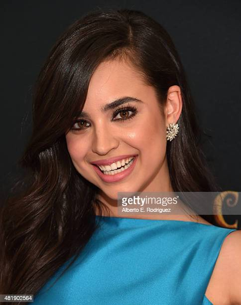 Actress Sofia Carson attends the premiere of Disney Channel's 'Descendants' at Walt Disney Studios on July 24 2015 in Burbank California