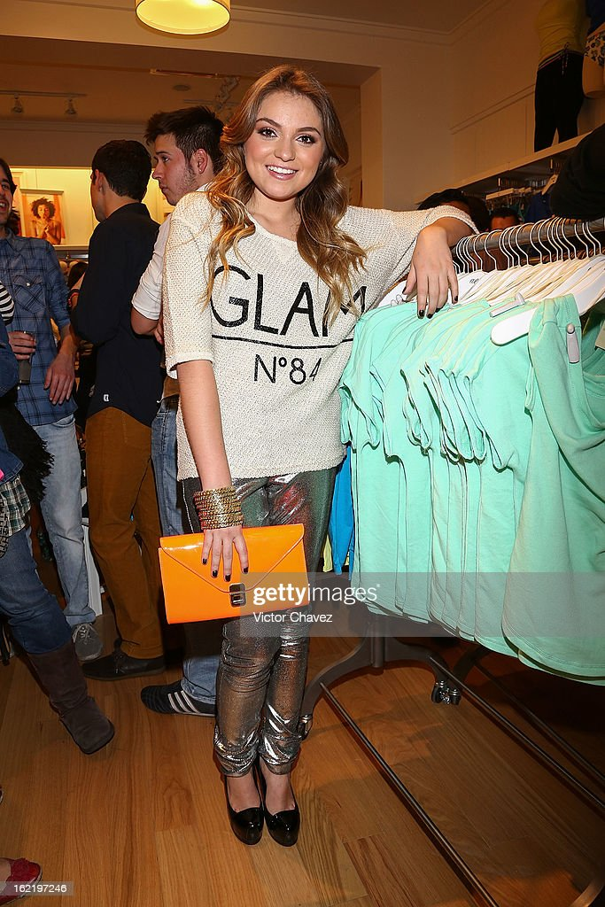 Actress Sofia Castro attends the opening of the American Eagle Mexico City store at Centro Comercial Perisur on February 19, 2013 in Mexico City, Mexico.