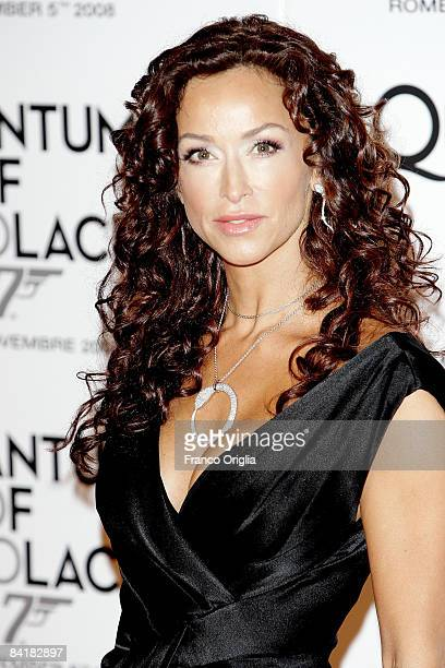 Actress Sofia Milo attends 'Quantum Of Solace' premiere at the Warner Village Moderno cinema on November 5 2008 in Rome Italy
