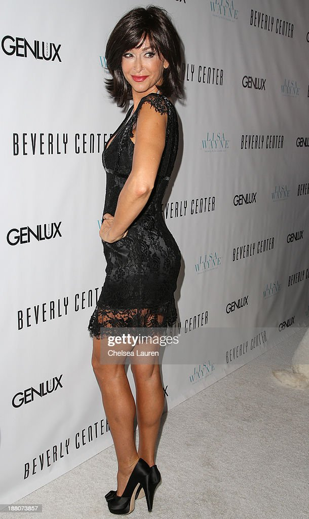 Actress <a gi-track='captionPersonalityLinkClicked' href=/galleries/search?phrase=Sofia+Milos&family=editorial&specificpeople=204487 ng-click='$event.stopPropagation()'>Sofia Milos</a> arrives at the Genlux new issue launch party hosted by Lisa Vanderpump on November 14, 2013 in Beverly Hills, California.