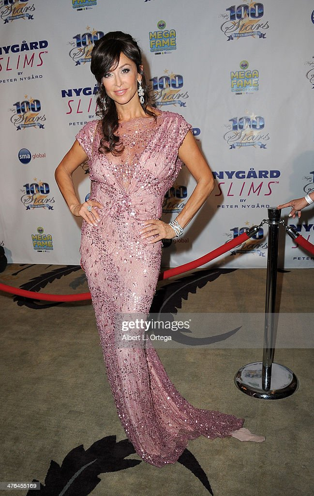 Actress Sofia Milos arrives for Norby Walters' 24nd Annual Night Of 100 Stars Oscar Viewing Gala held at Beverly Hills Hotel on March 2, 2014 in Beverly Hills, California.