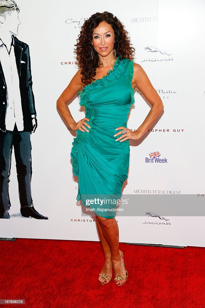 Actress Sofia Milos attends the 7th Annual Britweek: BritWeek Design Icon Award Presentation at Christopher Guy West Hollywood Showroom on April 26, 2013 in West Hollywood, California.