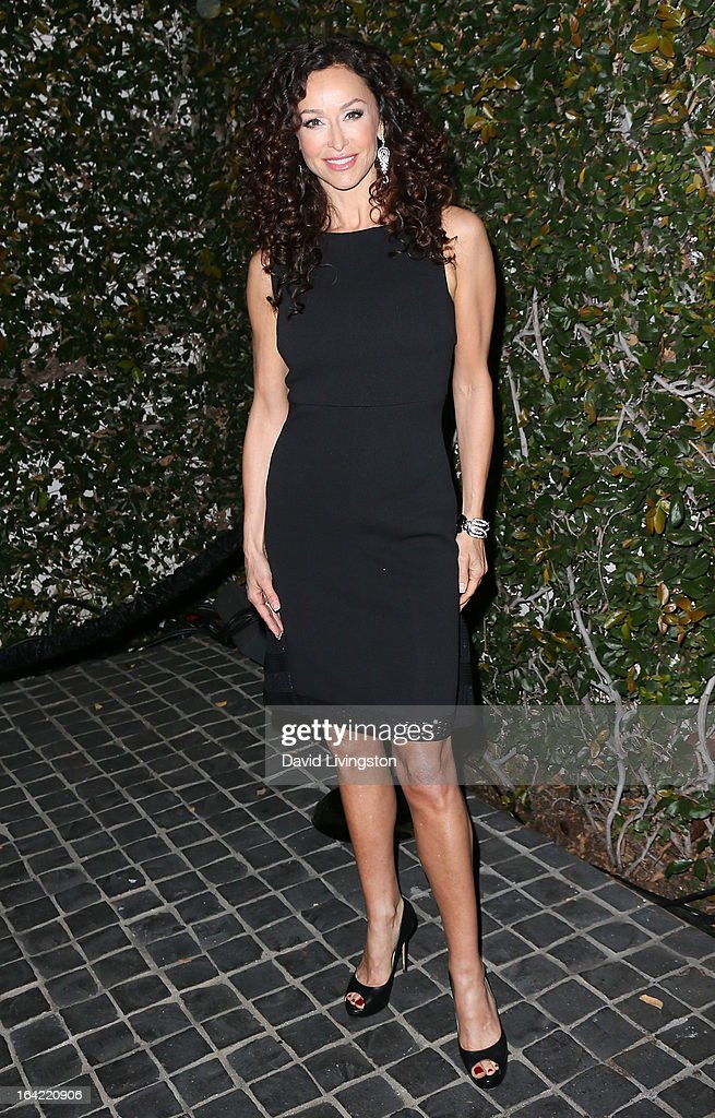 Actress Sofia Milos attends the BlackBerry Z10 Smartphone launch party at Cecconi's Restaurant on March 20, 2013 in Los Angeles, California.