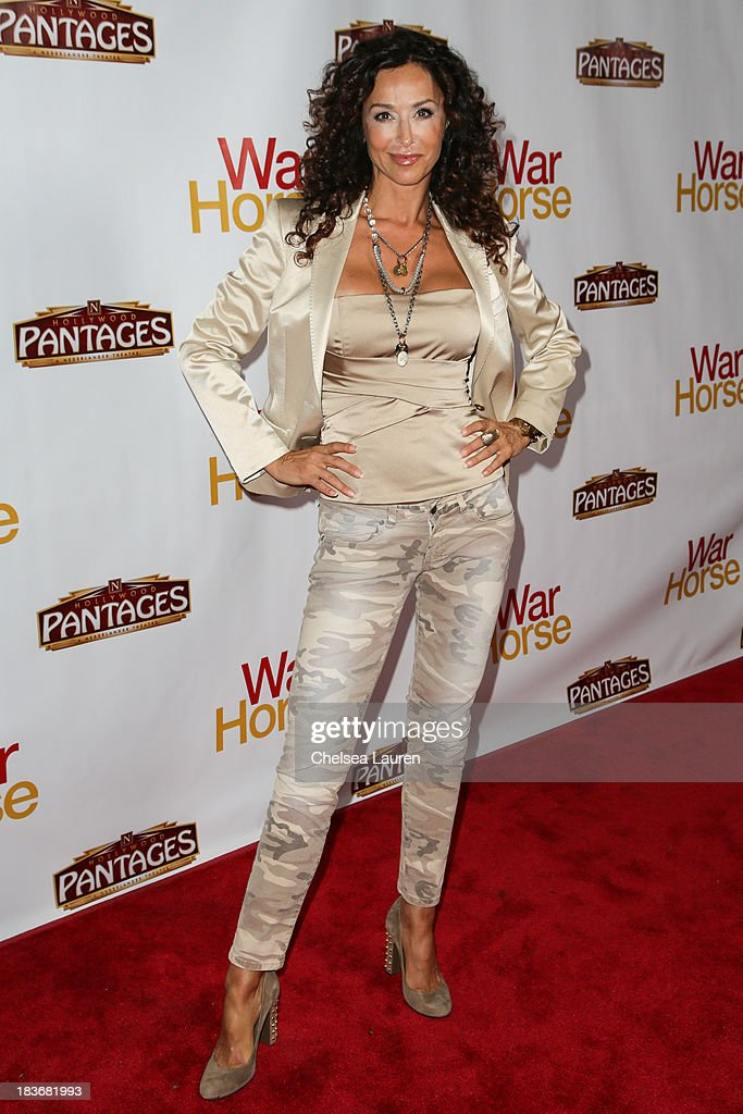Actress <a gi-track='captionPersonalityLinkClicked' href=/galleries/search?phrase=Sofia+Milos&family=editorial&specificpeople=204487 ng-click='$event.stopPropagation()'>Sofia Milos</a> attends the 'War Horse' red carpet opening night at the Pantages Theatre on October 8, 2013 in Hollywood, California.