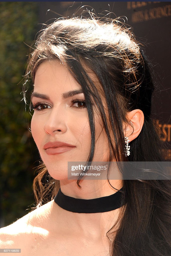 Actress Sofia Pernas arrives at the 43rd Annual Daytime Emmy Awards at the Westin Bonaventure Hotel on May 1, 2016 in Los Angeles, California.
