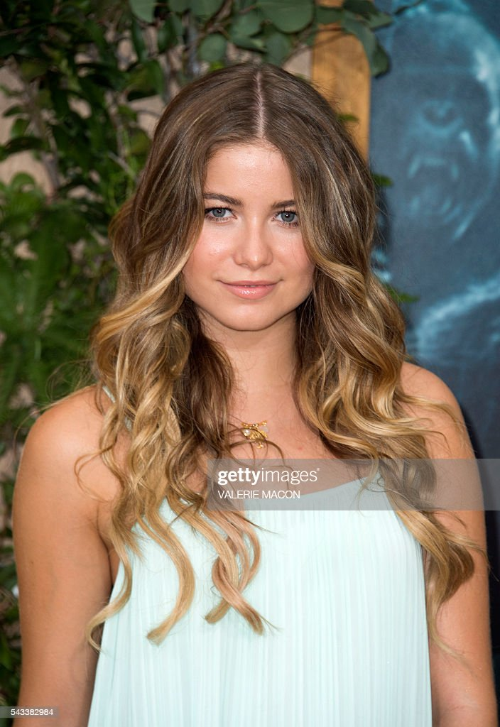 Actress Sofia Reyes attends the world premiere of 'The Legend of Tarzan' in Hollywood, California, on June 27, 2016. / AFP / VALERIE