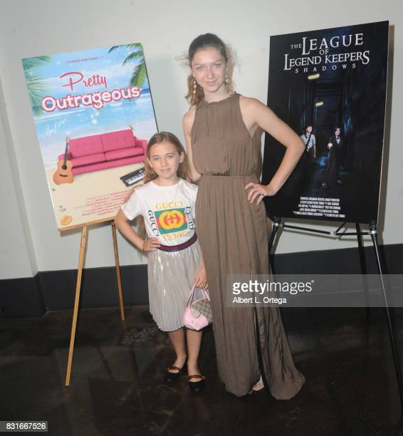 Actress Sofia Teller and Isabelle BlakeThomas attend the Screening Of 'Pretty Outrageous' And 'The League Of Legend Keepers' held at ArcLight Cinemas...