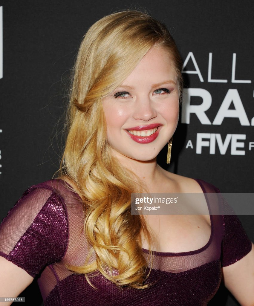 Actress Sofia Vassilieva arrives at the Los Angeles Premiere 'Call Me Crazy: A Five Film' at Pacific Design Center on April 16, 2013 in West Hollywood, California.