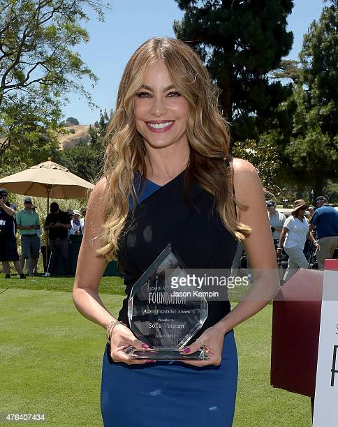 Actress Sofia Vergara accepts the Inaugural Actors Inspiration Award at the Annual LA Golf Classic Fundraiser on June 8 2015 in Burbank California