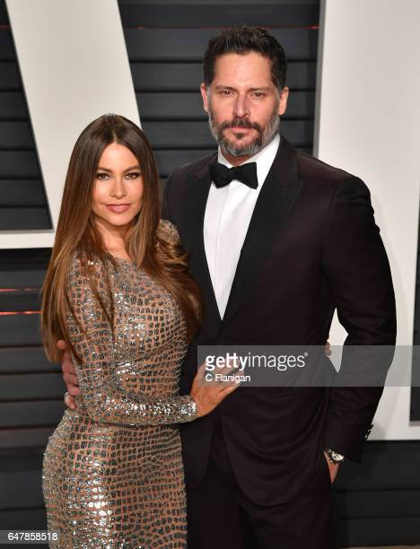 Actress Sofia Vergara and actor Joe Manganiello attend the 2017 Vanity Fair Oscar Party hosted by Graydon Carter at Wallis Annenberg Center for the...