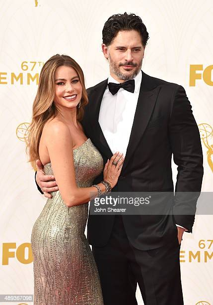Actress Sofia Vergara and actor Joe Manganiello attend the 67th Annual Primetime Emmy Awards at Microsoft Theater on September 20 2015 in Los Angeles...