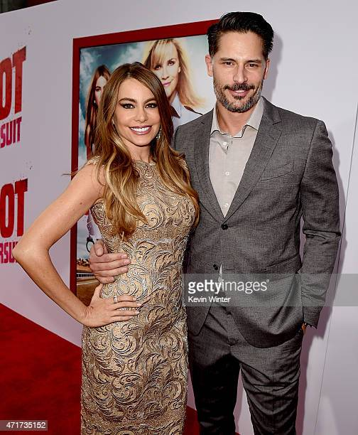 Actress Sofia Vergara and actor Joe Manganiello attend the premiere of 'Hot Pursuit' at TCL Chinese Theatre IMAX on April 30 2015 in Hollywood...