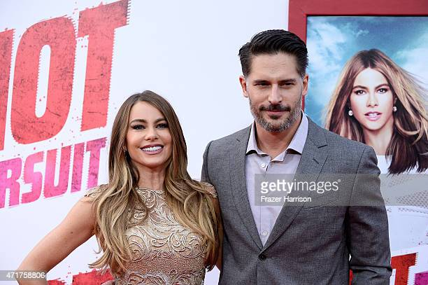 Actress Sofia Vergara and actor Joe Manganiello attend the Premiere of New Line Cinema And MetroGoldwynMayer's 'Hot Pursuit' at TCL Chinese Theatre...