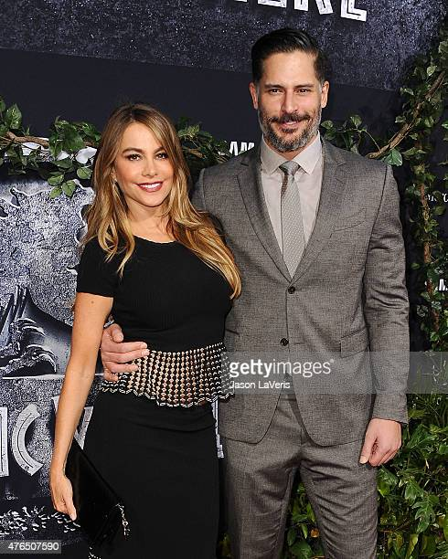 Actress Sofia Vergara and actor Joe Manganiello attend the premiere of 'Jurassic World' at Dolby Theatre on June 9 2015 in Hollywood California