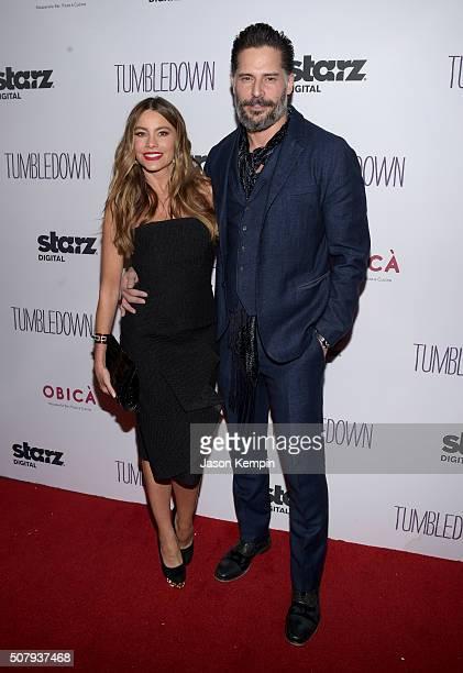 Actress Sofia Vergara and actor Joe Manganiello attend the special screening of 'Tumbledown' hosted by Starz Digital and The Cinema Society at Aero...