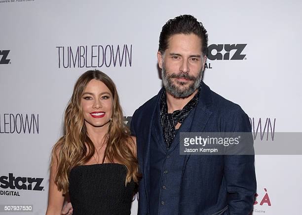 Actress Sofia Vergara and actor Joe Manganiello attend the special screening of 'Tumbledown' hosted by Starz Digital and The Cinema Society at Aero...