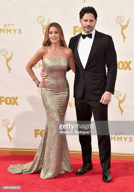 Actress Sofia Vergara and Joe Manganiello attend the 67th Emmy Awards at Microsoft Theater on September 20 2015 in Los Angeles California 25720_001