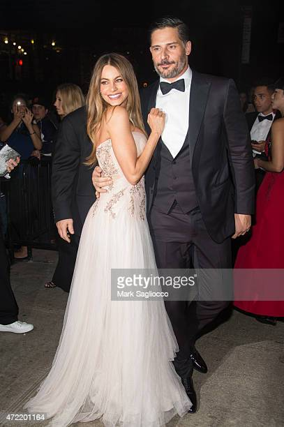 Actress Sofia Vergara and Joe Manganiello attend the 'China Through The Looking Glass' Costume Institute Benefit Gala After Party on May 4 2015 at...
