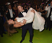 Actress Sofia Vergara and tv personality Derek Hough attend HBO's Official 2014 Emmy After Party at The Plaza at the Pacific Design Center on August...