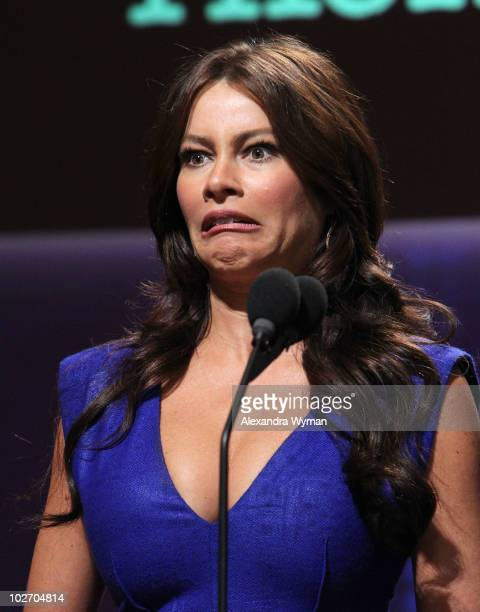 Actress Sofia Vergara announces the 62nd Primetime Emmy Awards Nominations held at Leonard H Goldenson Theatre on July 8 2010 in North Hollywood...